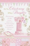 Christening Of Your Daughter Card